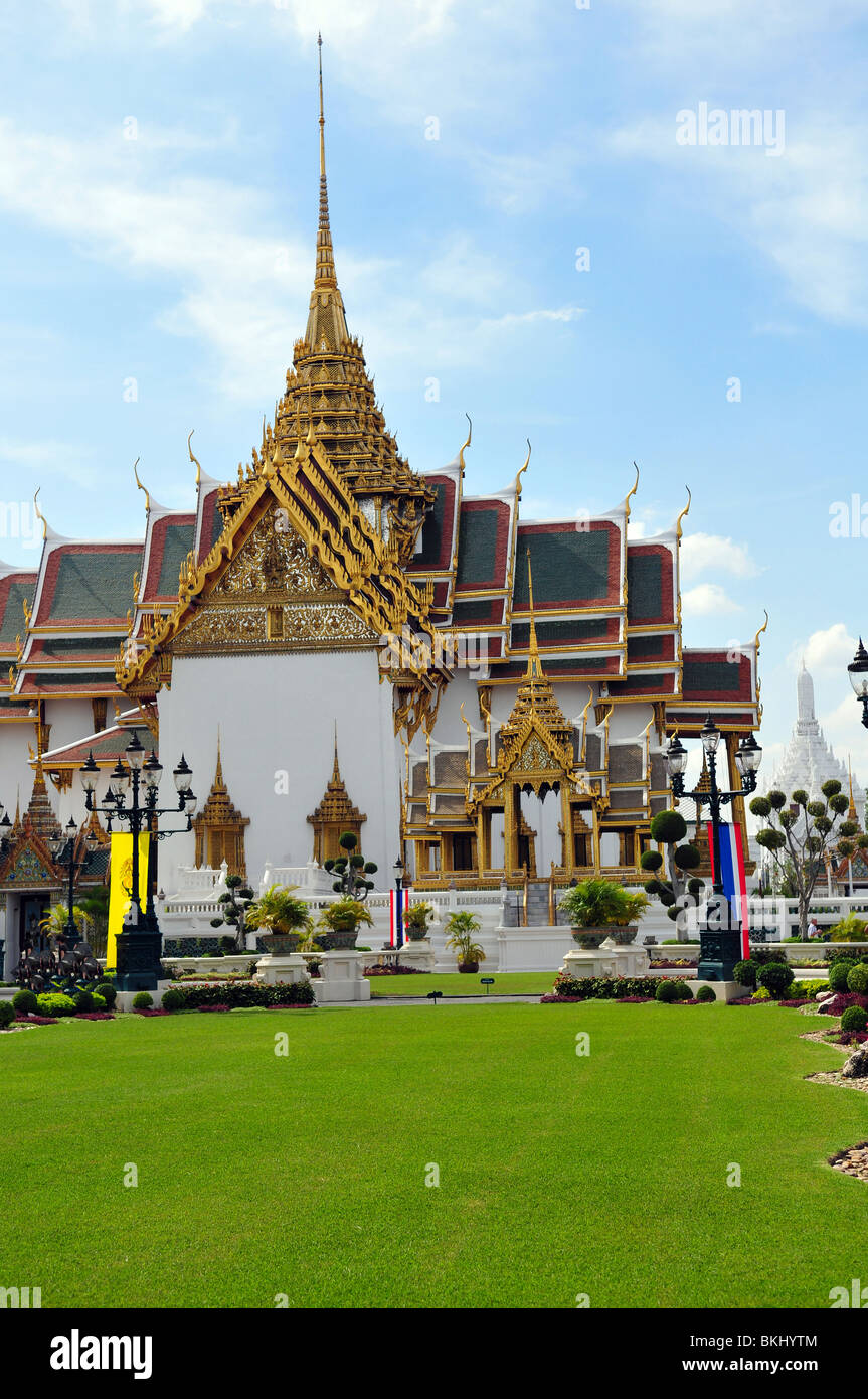 Authentische Thai-Architektur in Bangkok Stockbild