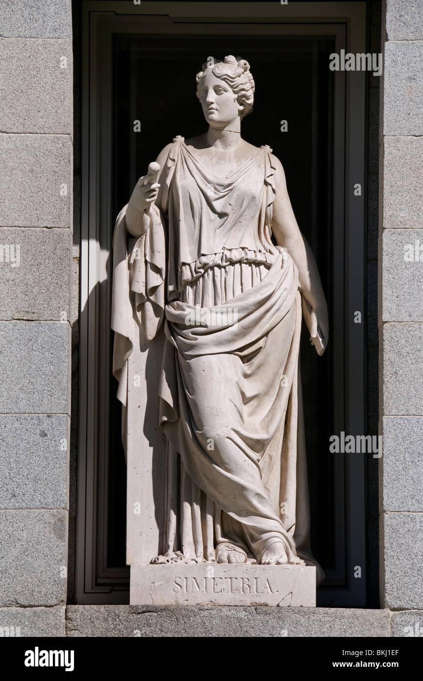 Simetria Symmetrie del Prado Madrid Spanien Neo griechische römische Stockbild
