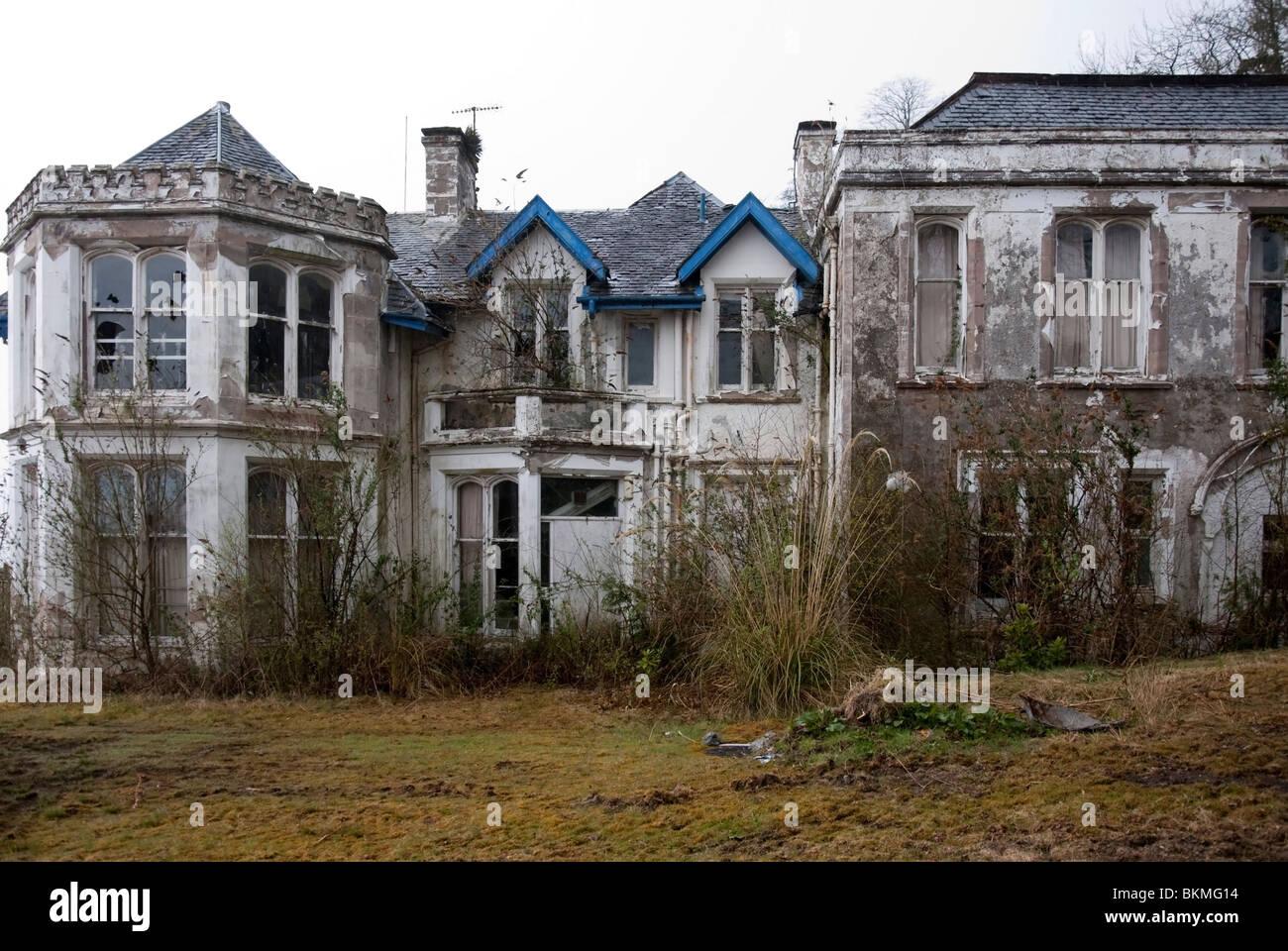 Die verlassenen ehemalige Finnartmore Rekonvaleszenten Home Kilmun Argyll Stockfoto