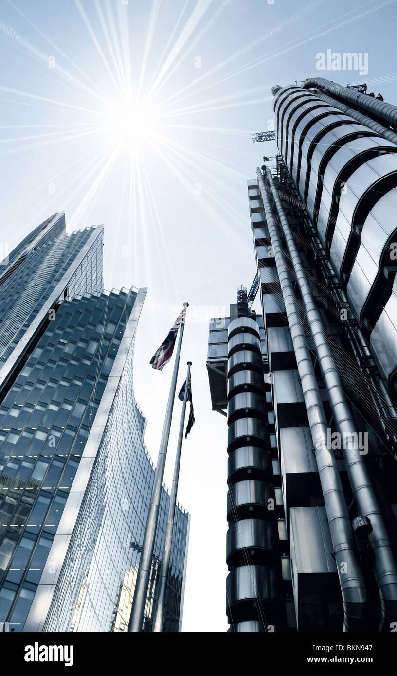Zeitgenössische Architekturdesign - London UK Stockbild