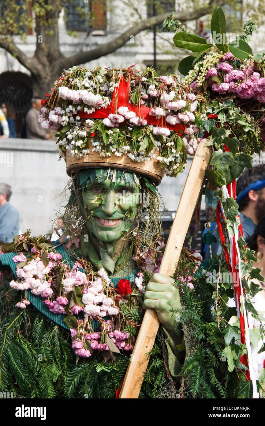 Buchse in die grüne, traditionelle englische Sitte Stockbild