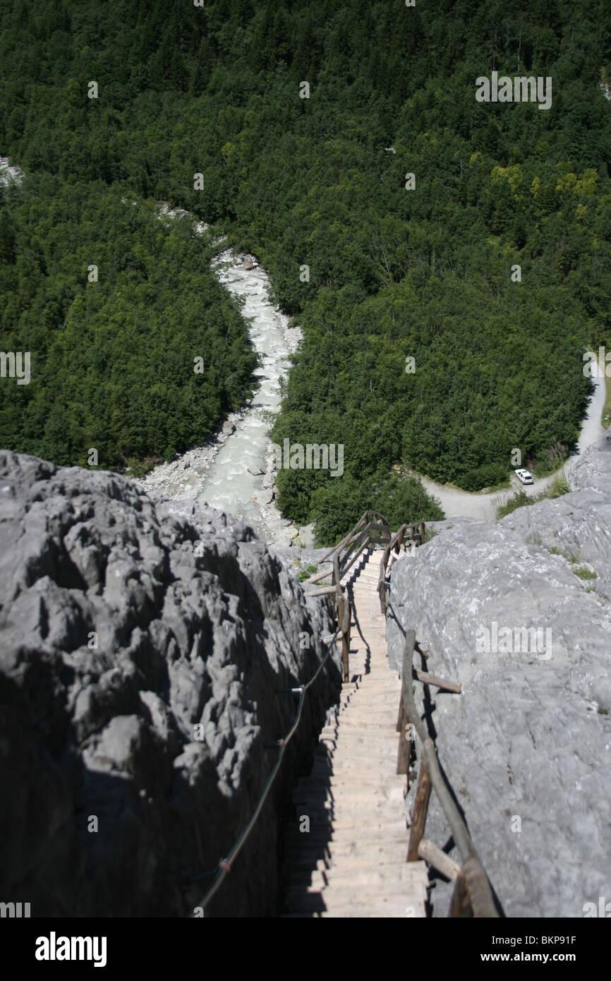 Grindelwald-Gletscher in der Schweiz Alpen Stockbild