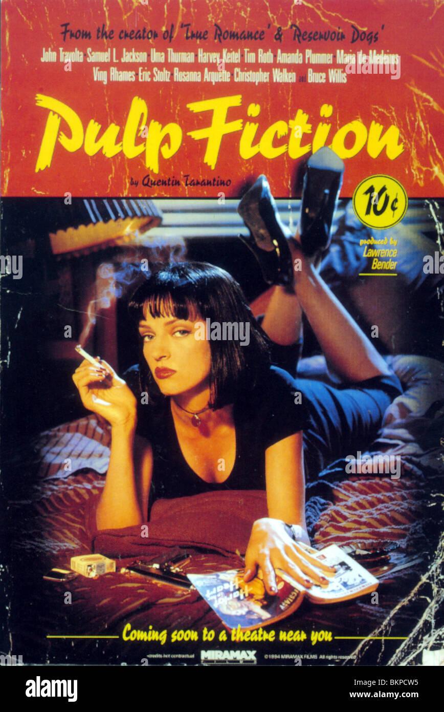 PULP FICTION-1994 POSTER Stockbild