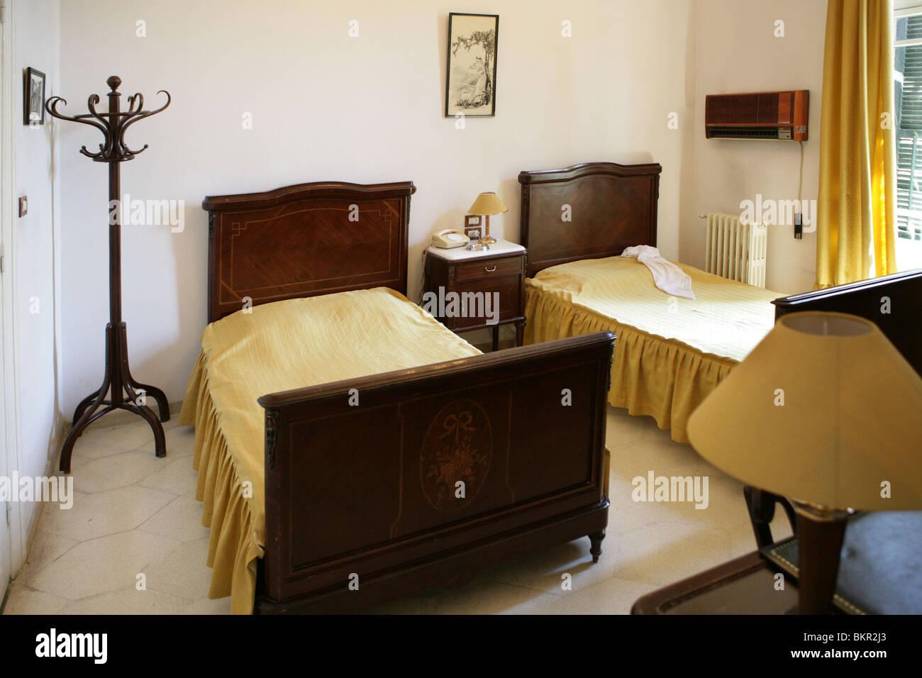 Das Schlafzimmer war Agatha Christie in Baron Hotel, Anfang des 20 ...