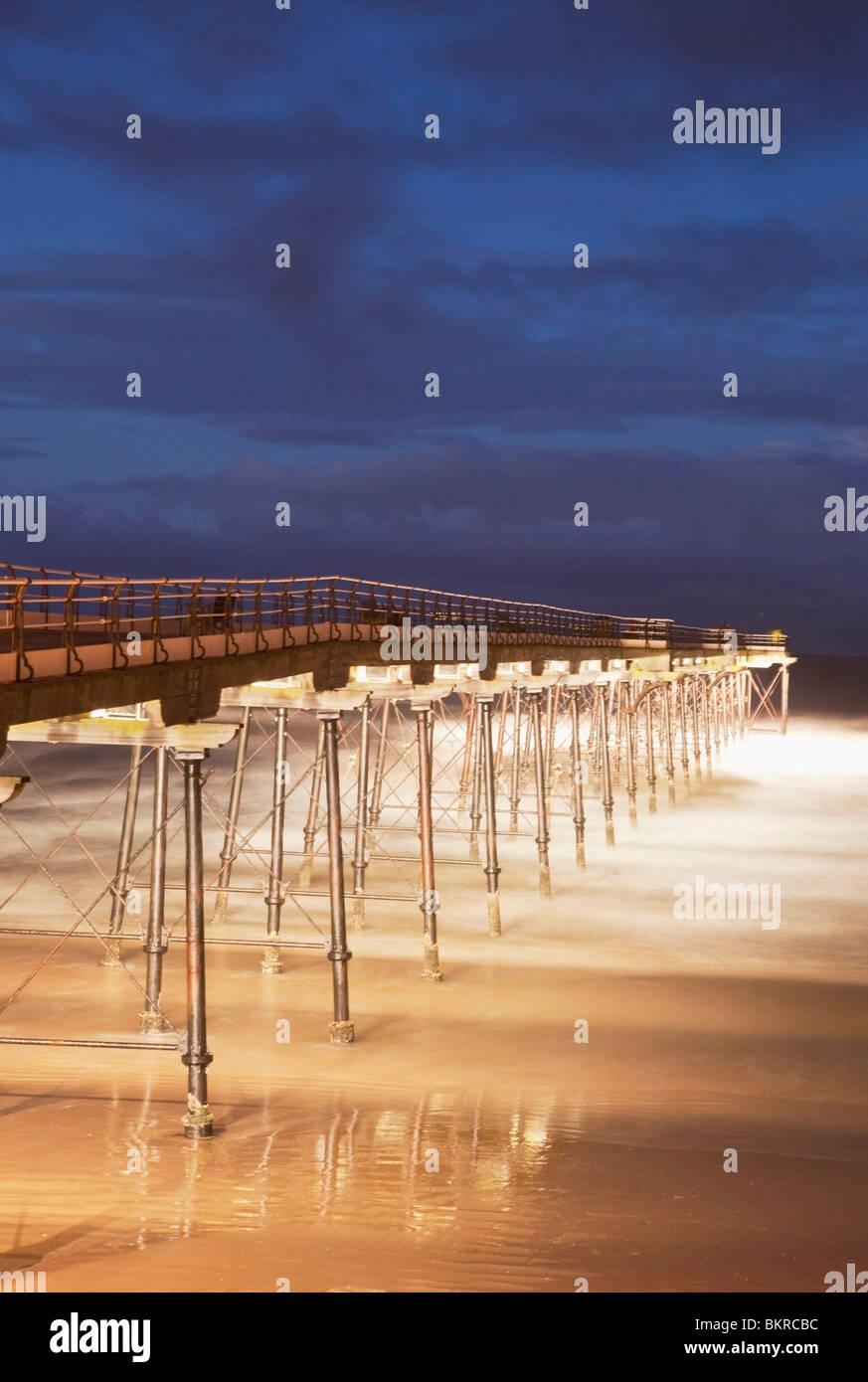 Yorkshire, England; Saltburn Pier Stockbild