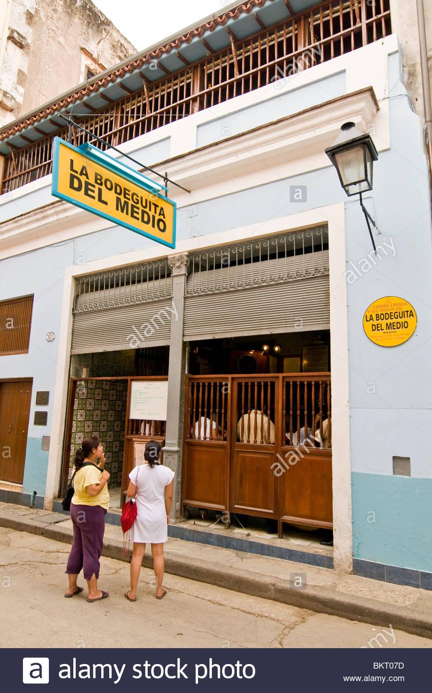 Kuba, Havanna, la Bodeguita del medio Stockbild