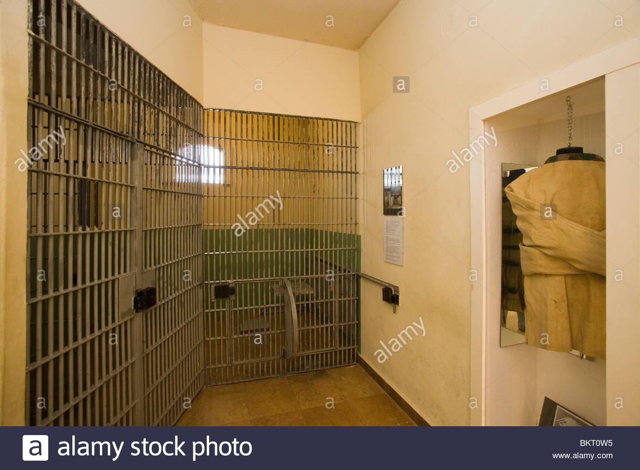 Zellen, die Stasi geheimen Zentrum zur Zeit der DDR, die Stasi-Museum, Berlin, Deutschland Stockbild