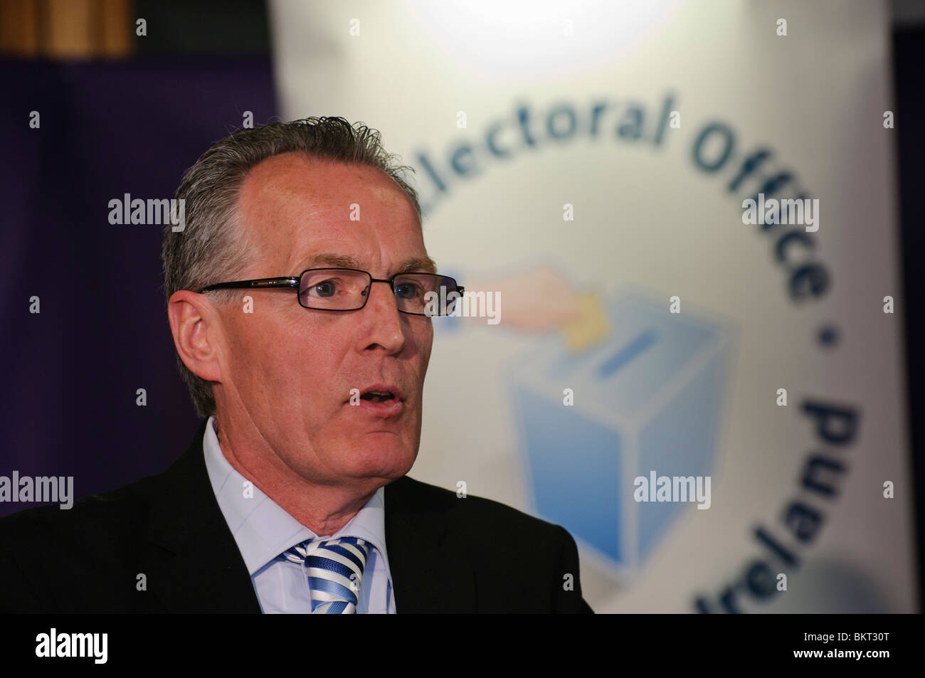 Gerry Kelly, Sinn Féin MLA für Foyle Stockbild