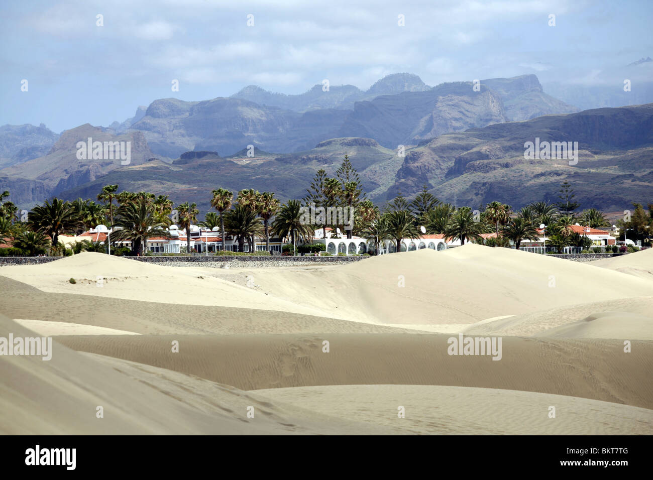 Sanddünen in Playa del Ingles, Gran Canaria Stockbild