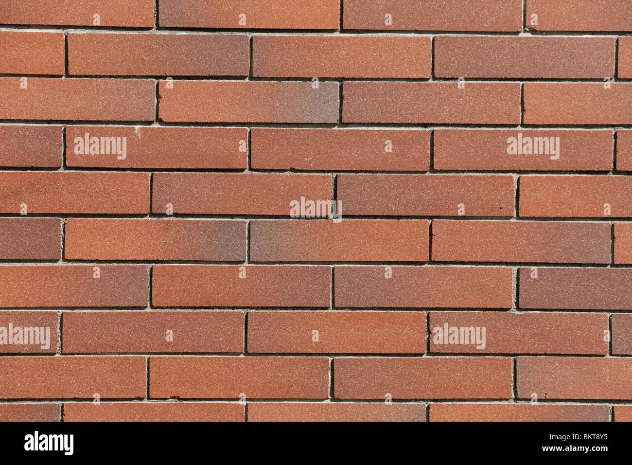 Red Brick Wall für Hintergrund Stockbild