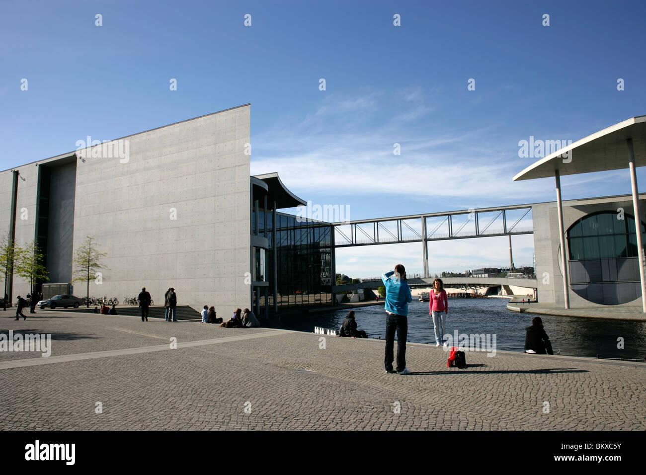 Bundestag oder das Regierungsviertel von Berlin, Deutschland Stockbild