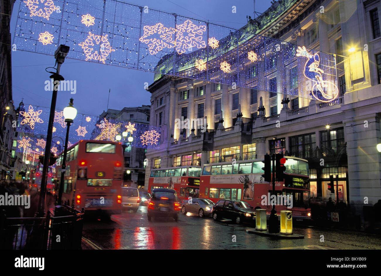 regent street in der weihnachtszeit london england stockfoto bild 29490169 alamy. Black Bedroom Furniture Sets. Home Design Ideas