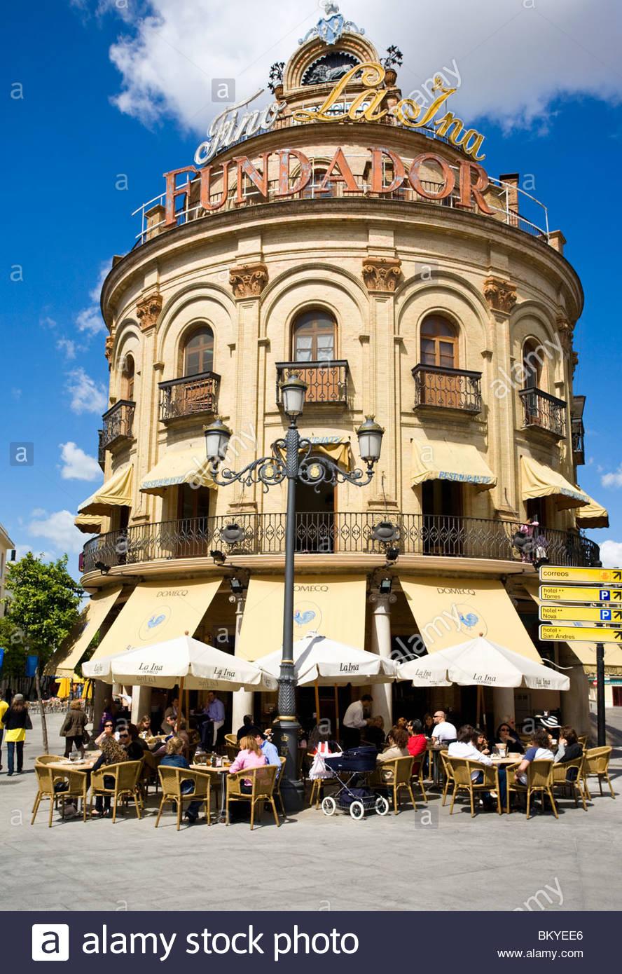 Tapas Bar La Gallo Azul, Jerez De La Frontera, Andalusien, Provinz Cadiz, Spanien Stockbild