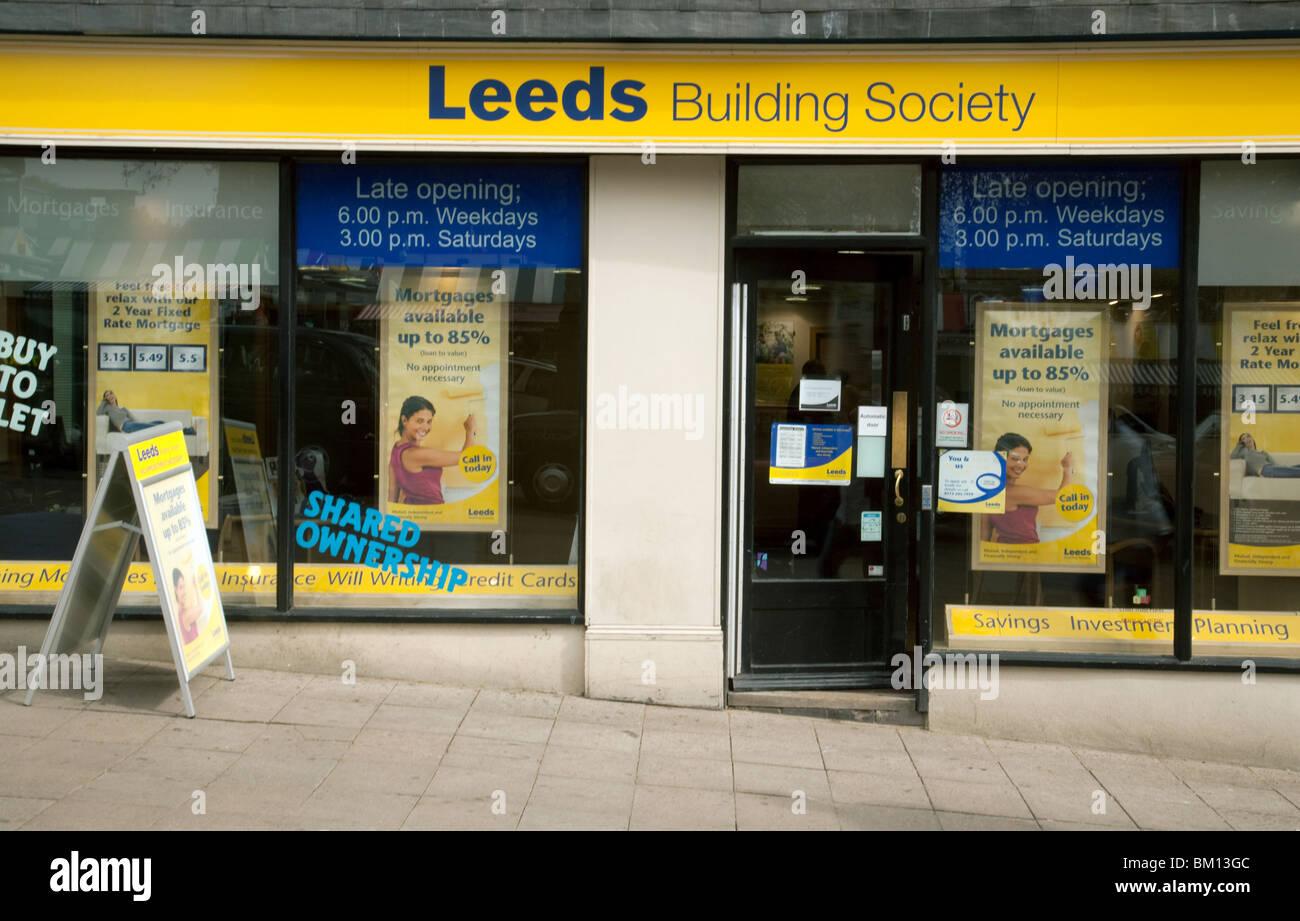 Leeds Building Society, Norwich Branch, Norfolk, East Anglia, UK Stockbild