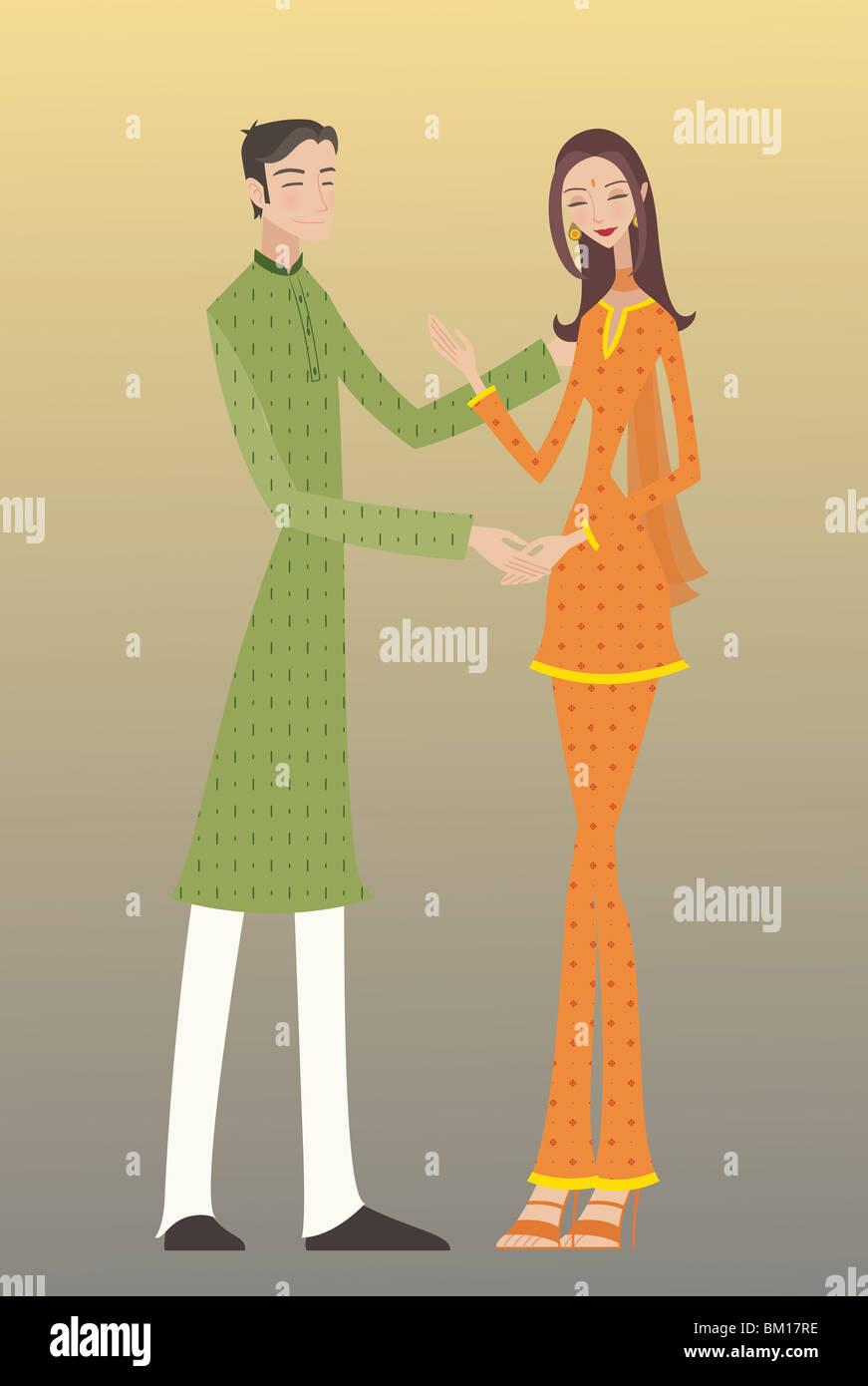 Paar romancing Stockbild