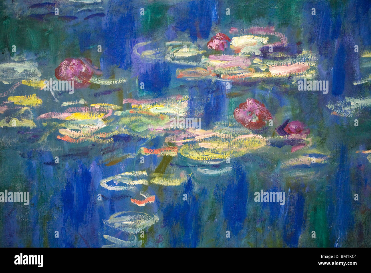 detail der seerose nympheas serie gemalt von claude monet im musee de lorangerie tuileries paris. Black Bedroom Furniture Sets. Home Design Ideas
