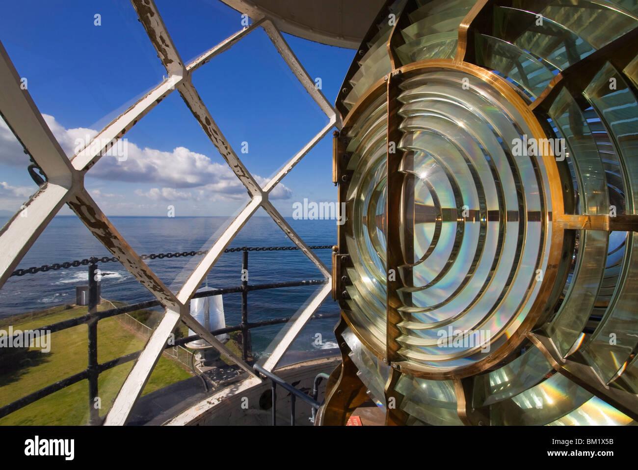 Zeigen Sie Vincente Leuchtturm Objektiv, Palos Verdes Peninsula, Los Angeles, California, Vereinigte Staaten von Stockbild