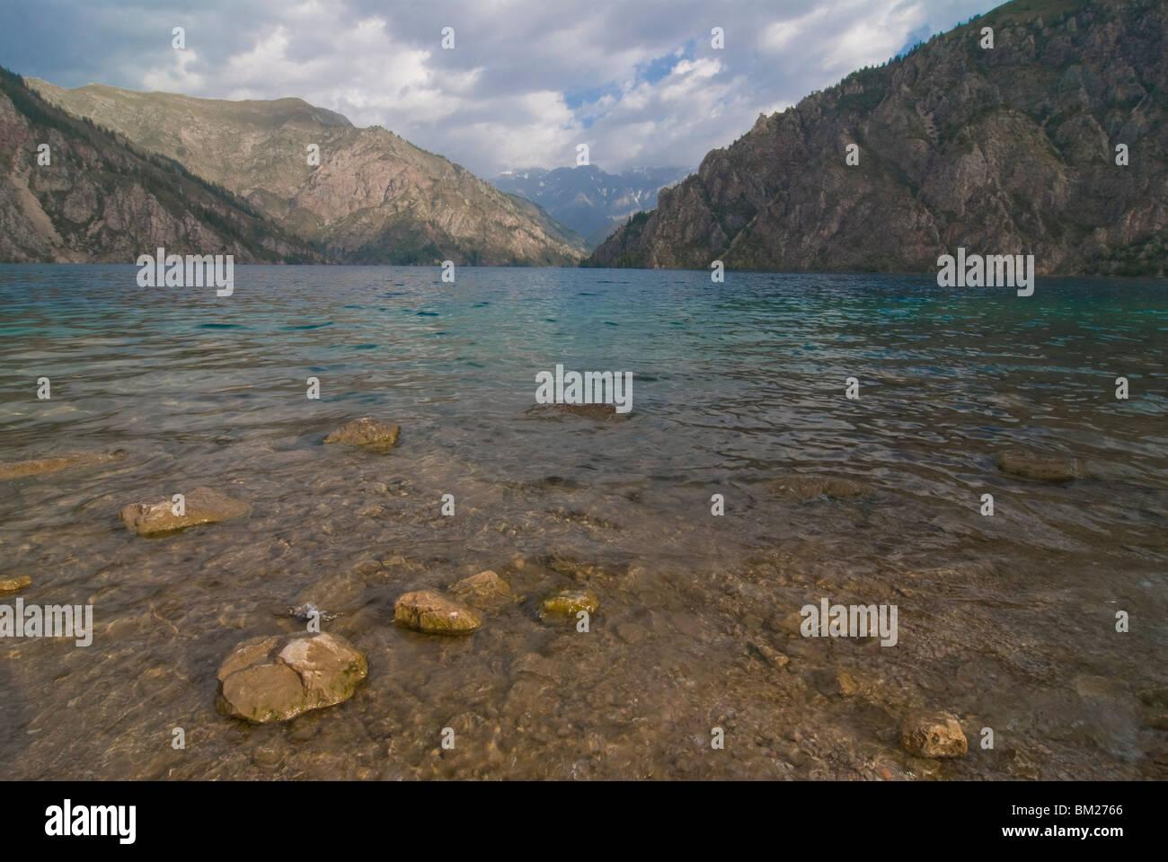Sary-Chelek UNESCO Biosphere Reserve, Kirgisien, Zentralasien Stockbild