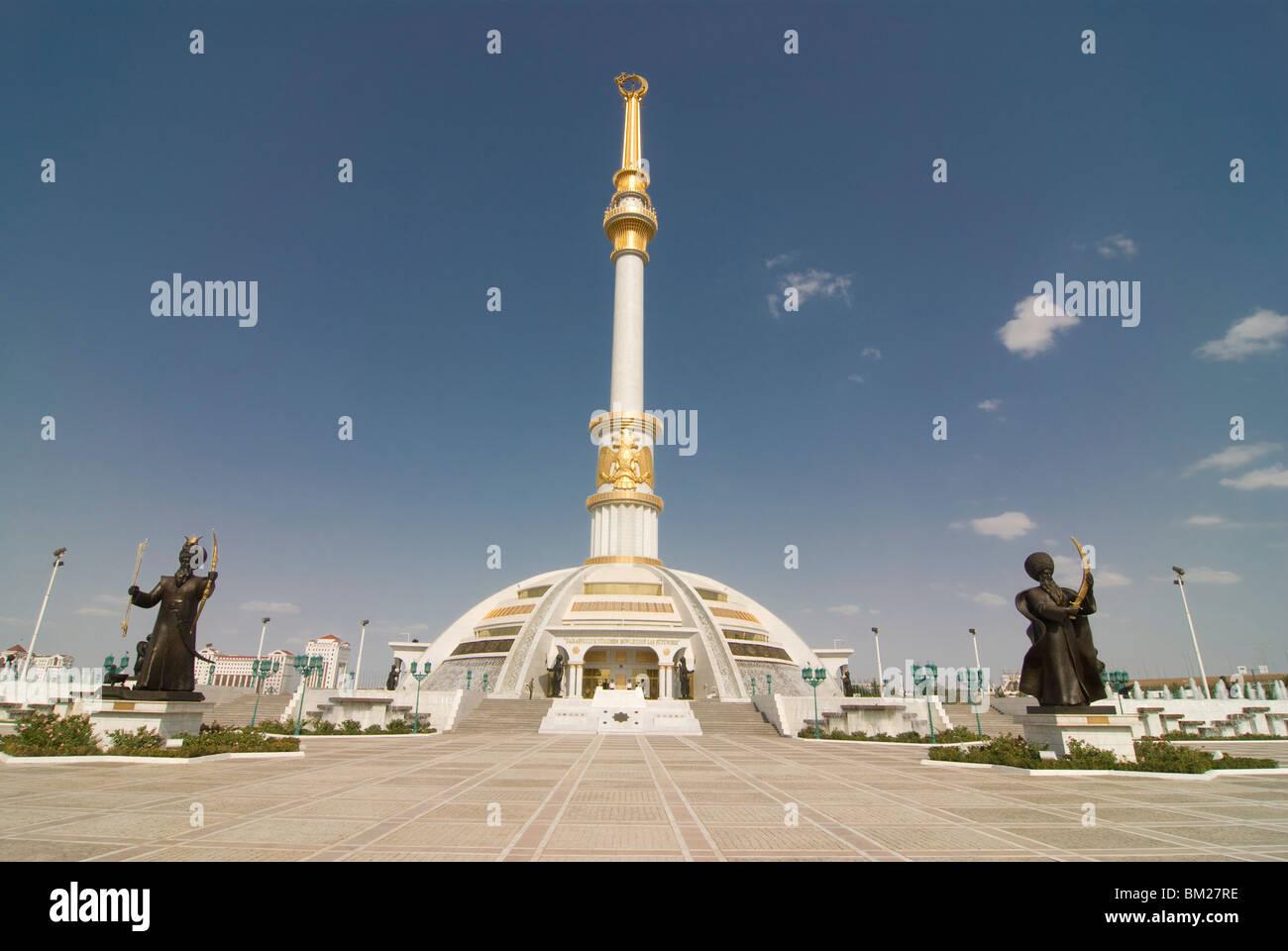 Monument der Unabhängigkeit von Turkmenistan, Aschgabat, Turkmenistan, Zentral-Asien, Asien Stockbild