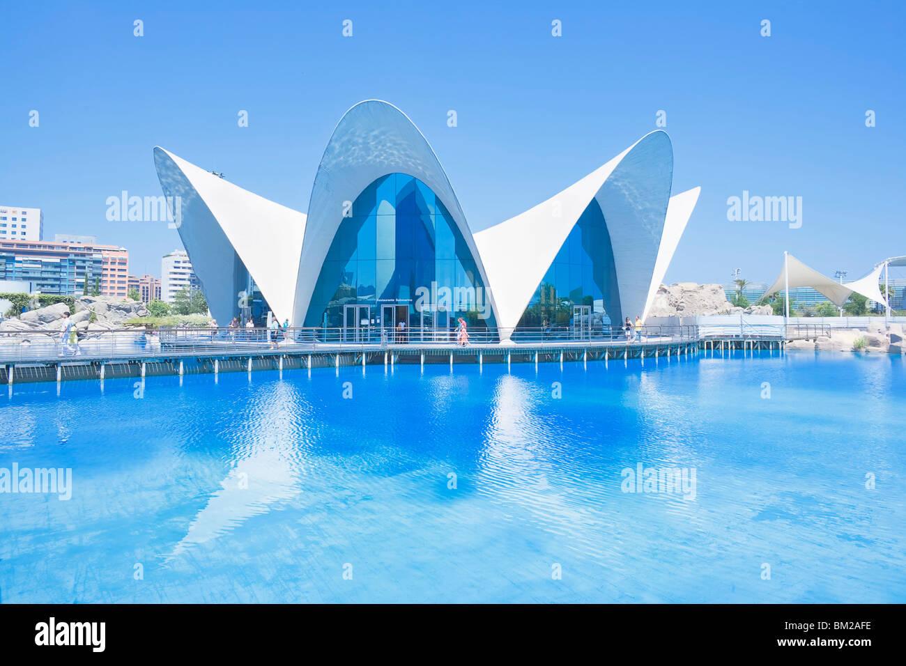 Oceanogràfic, Stadt der Künste und Wissenschaften, Valencia, Comunidad Autonoma de Valencia, Spanien Stockbild