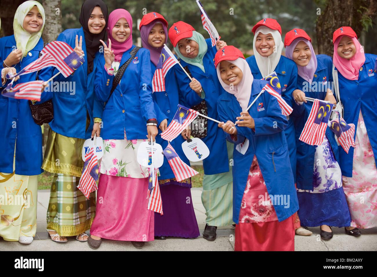 Independence Day feiern, Kuala Lumpur, Malaysia, Südost-Asien Stockbild