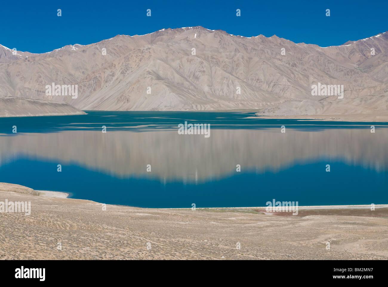 Türkis Bulunkul See, Bulunkul, Tadschikistan Stockbild
