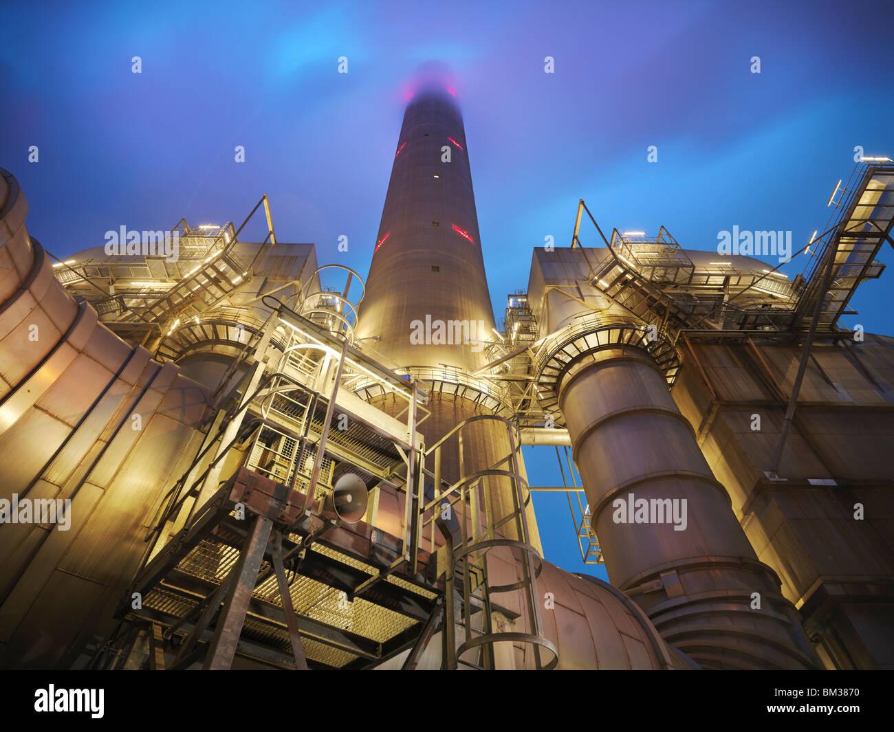 Coal-Fired Power station Stockbild