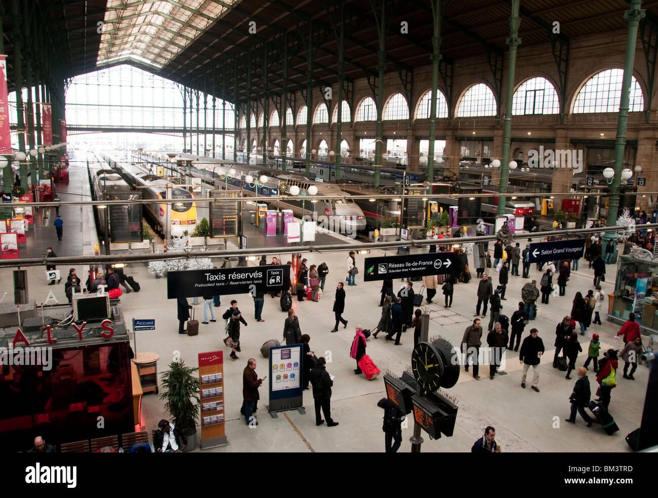 Gare du Nord Bahnhof Paris Frankreich Stockbild