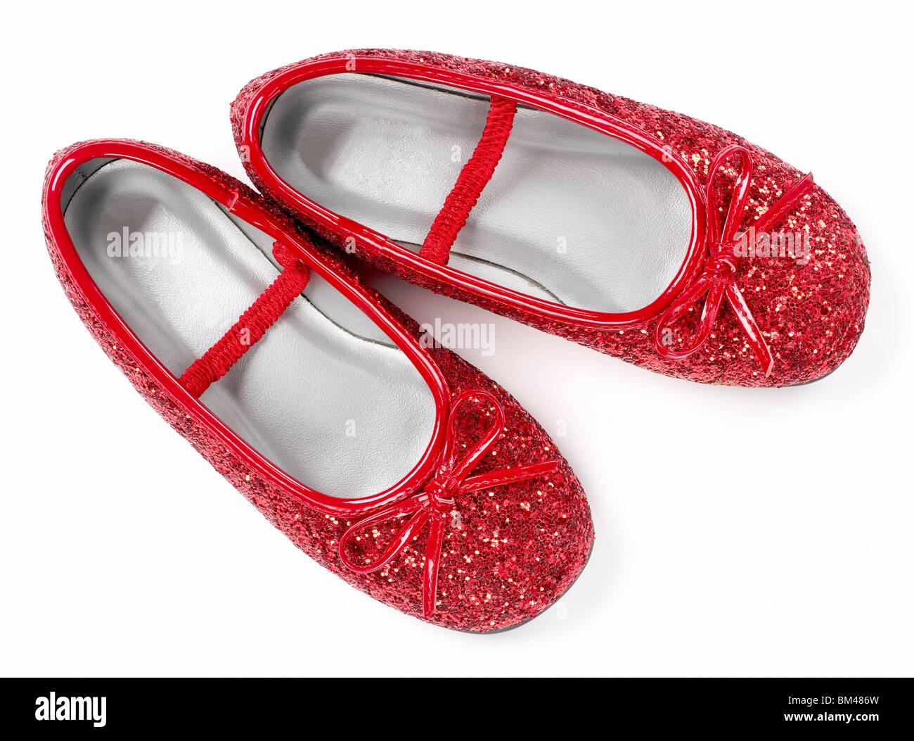 Red Ruby Slipper Schuhe Stockbild