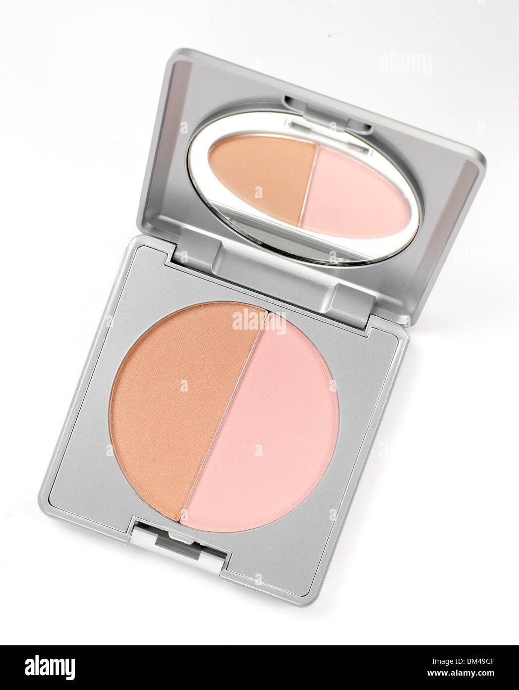kompaktes Gehäuse für Blush Make-up Stockbild