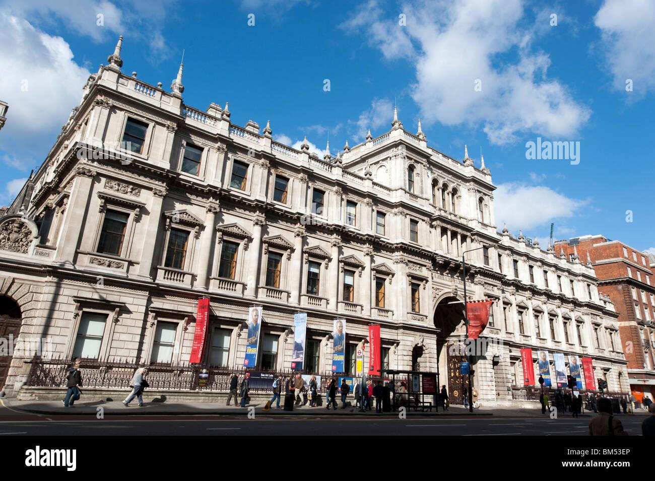Royal Academy of Arts, Piccadilly, London, England, Vereinigtes Königreich Stockbild