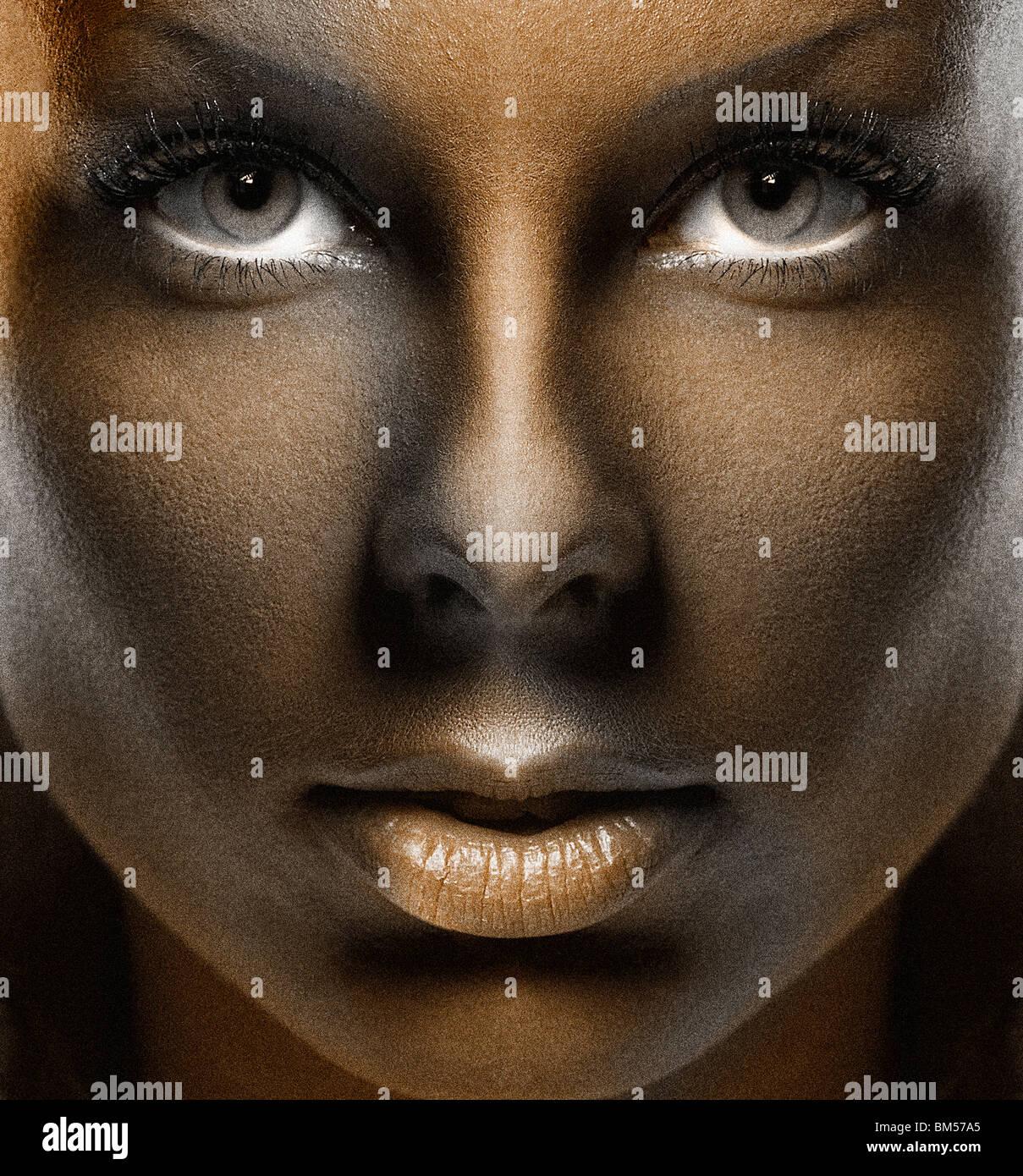 Wunderschön Gesicht Bemalen Ideen Von Bemalte Gesicht, Weiblich, Kriegsbemalung, Make-up, Kosmetik, Che,