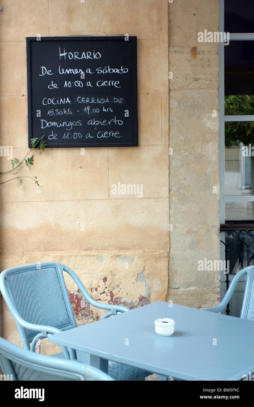 Cafe Parisien, Arta, Mallorca Stockfotografie   Alamy