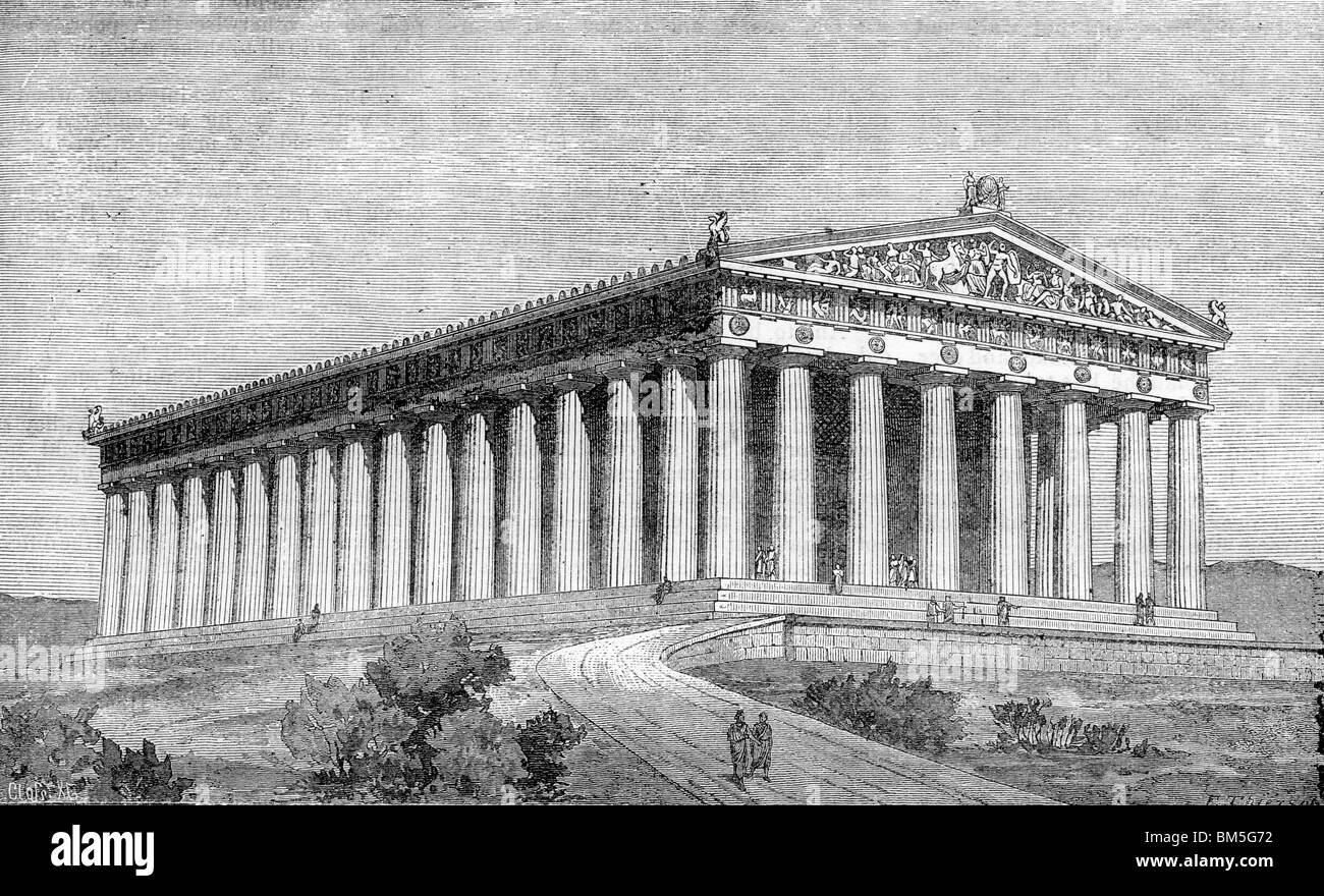 Der Parthenon Stockfoto