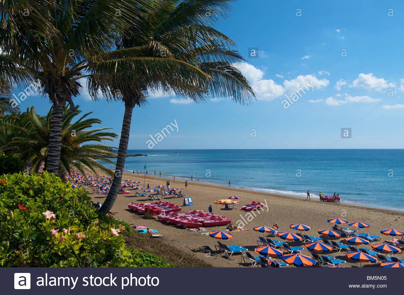 Puerto del Carmen-Lanzarote-Kanarische Inseln-Spanien Stockbild