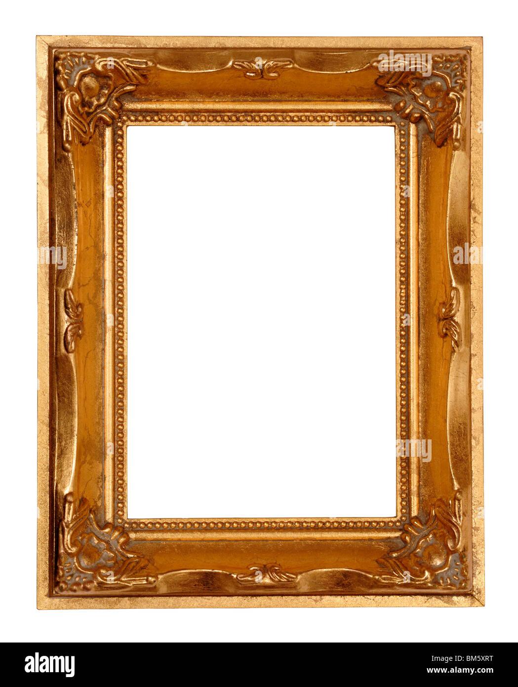 Gold Bilderrahmen Stockbild
