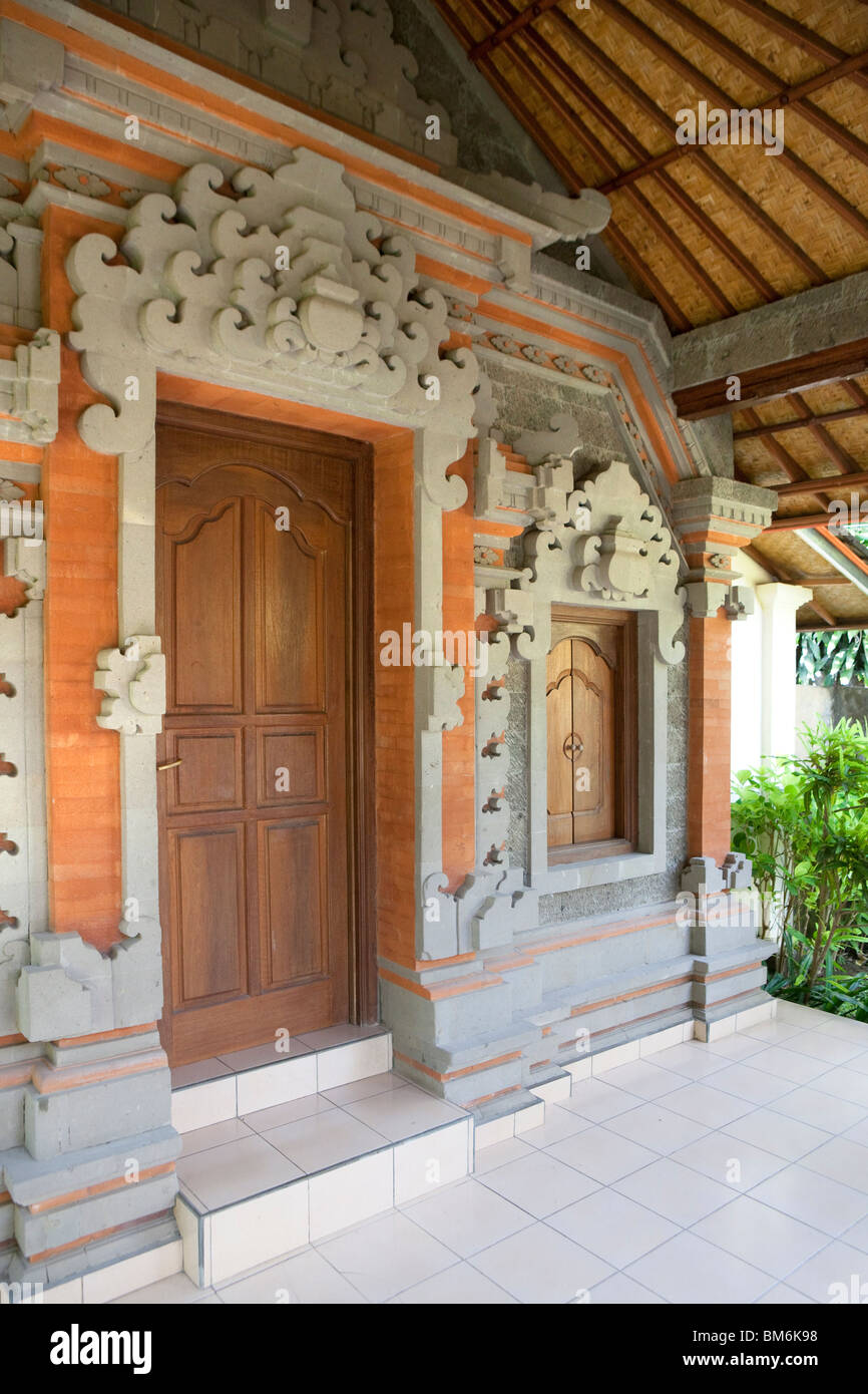 Traditions-Gasthof in Bali, Indonesien Stockbild