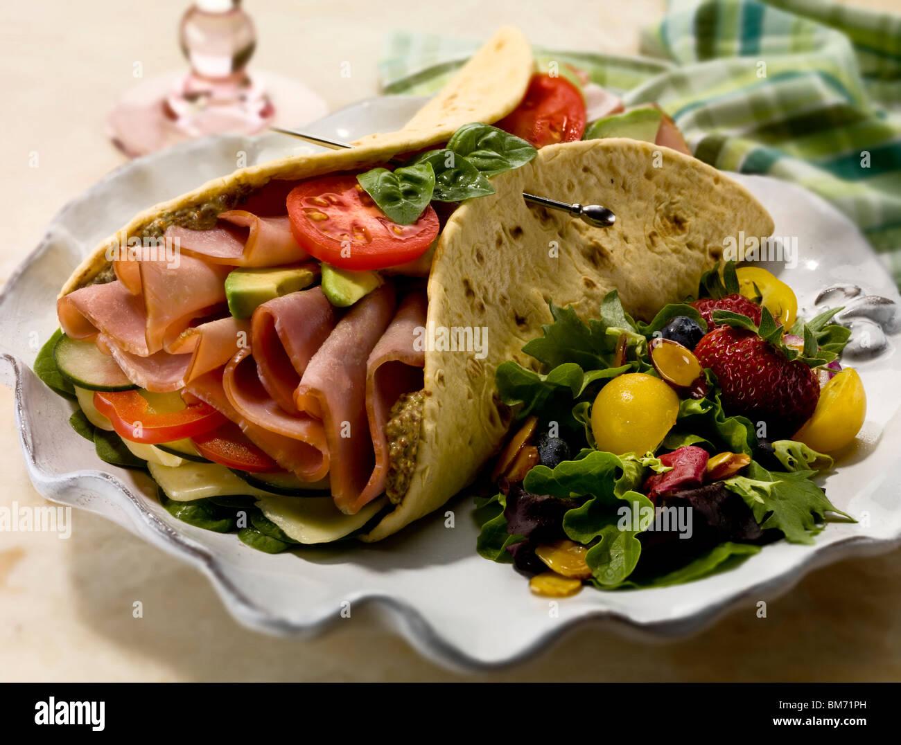 Schinken Sandwich Stockbild