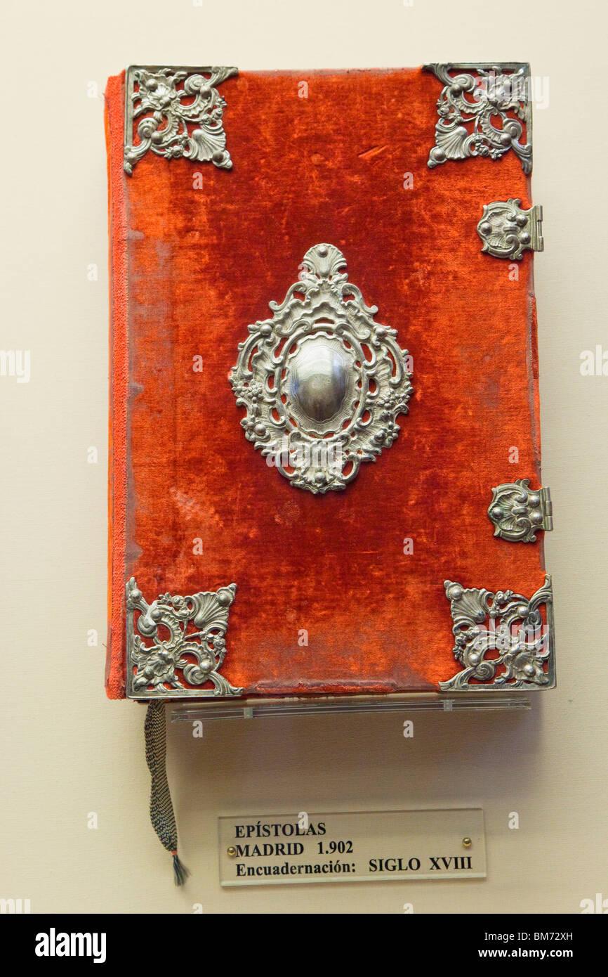 Beispiel der Briefe veröffentlicht Madrid 1902, im 18. Jahrhundert verbindlich. Córdoba, Spanien. Stockbild