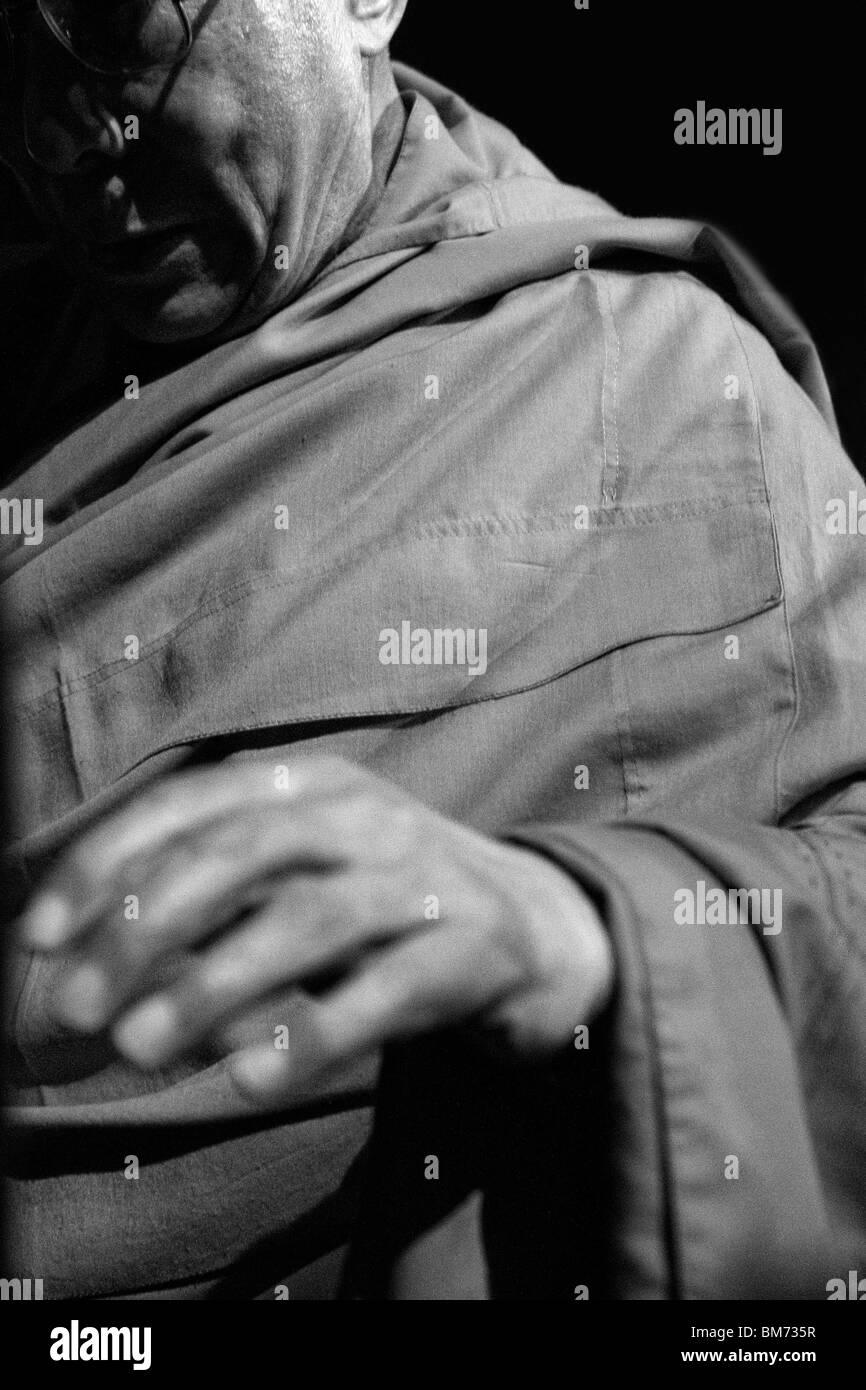 Der XIV Dalai Lama von Tibet erschien in der Radio City Music Hall in New York für eine Reihe von buddhistischen Stockbild