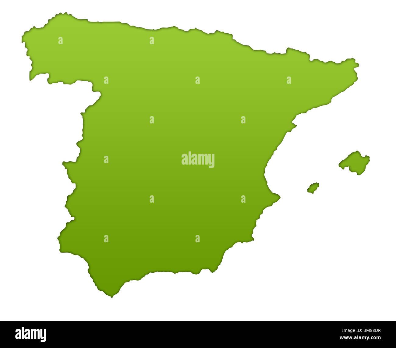Spanien Karte Schwarz Weiß.Spanien Karte Stockfotos Spanien Karte Bilder Alamy