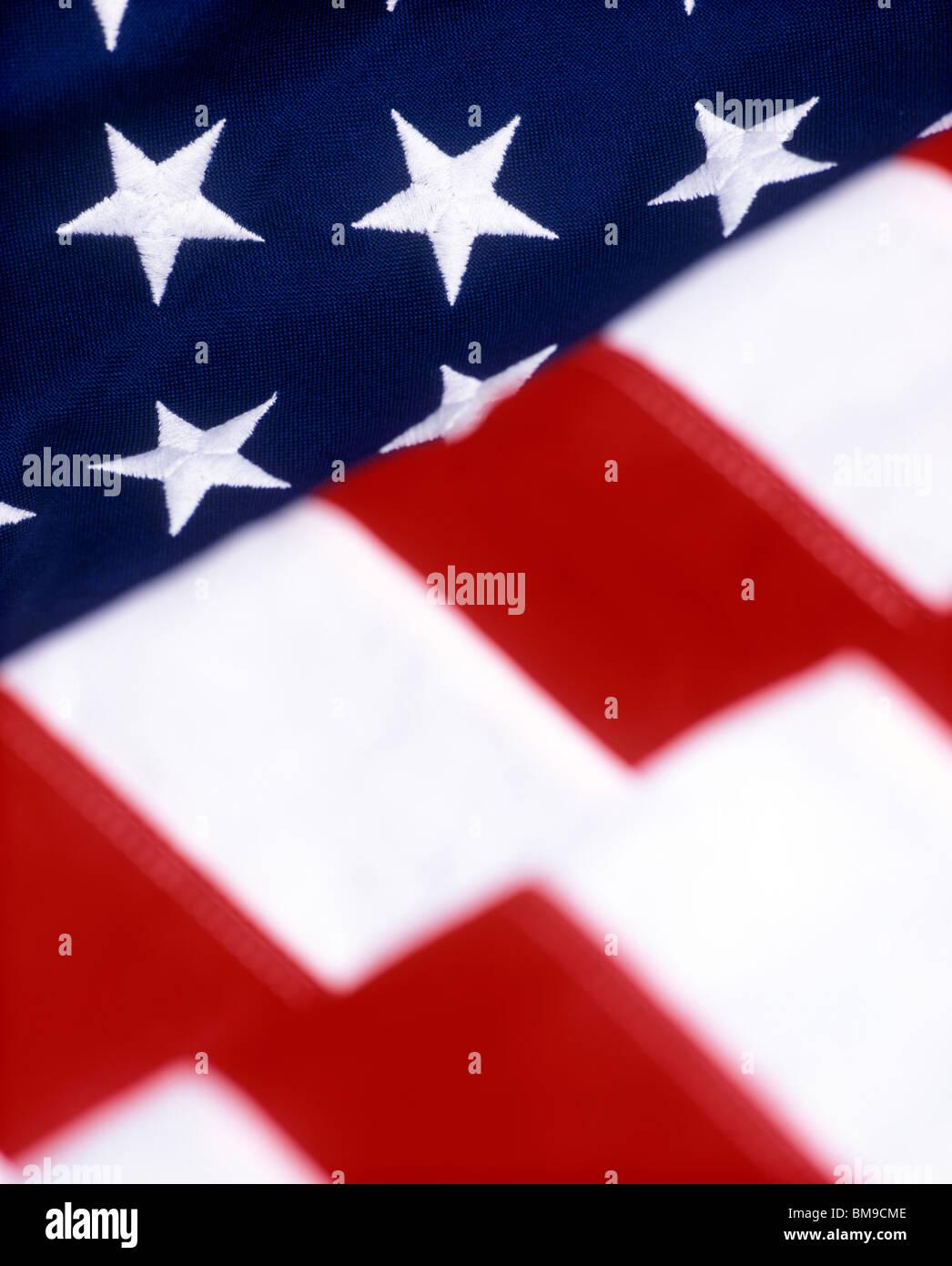 USA Flagge Nahaufnahme Stockbild
