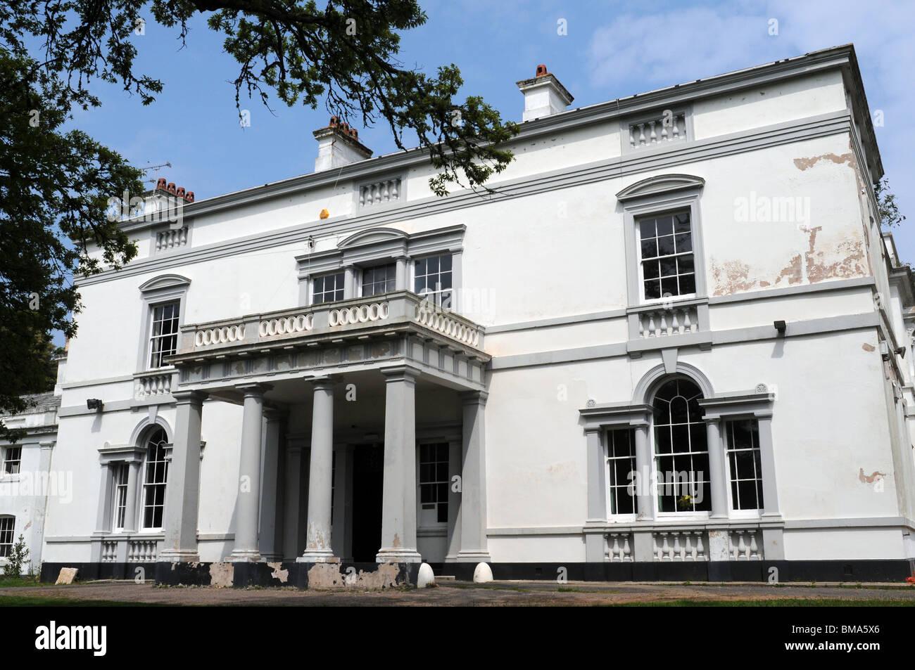 Lupton House war das Land Herrenhaus von Lord Churston. Im Jahr 1990 wurde es ein Internat, Gramercy Hall School, Stockbild