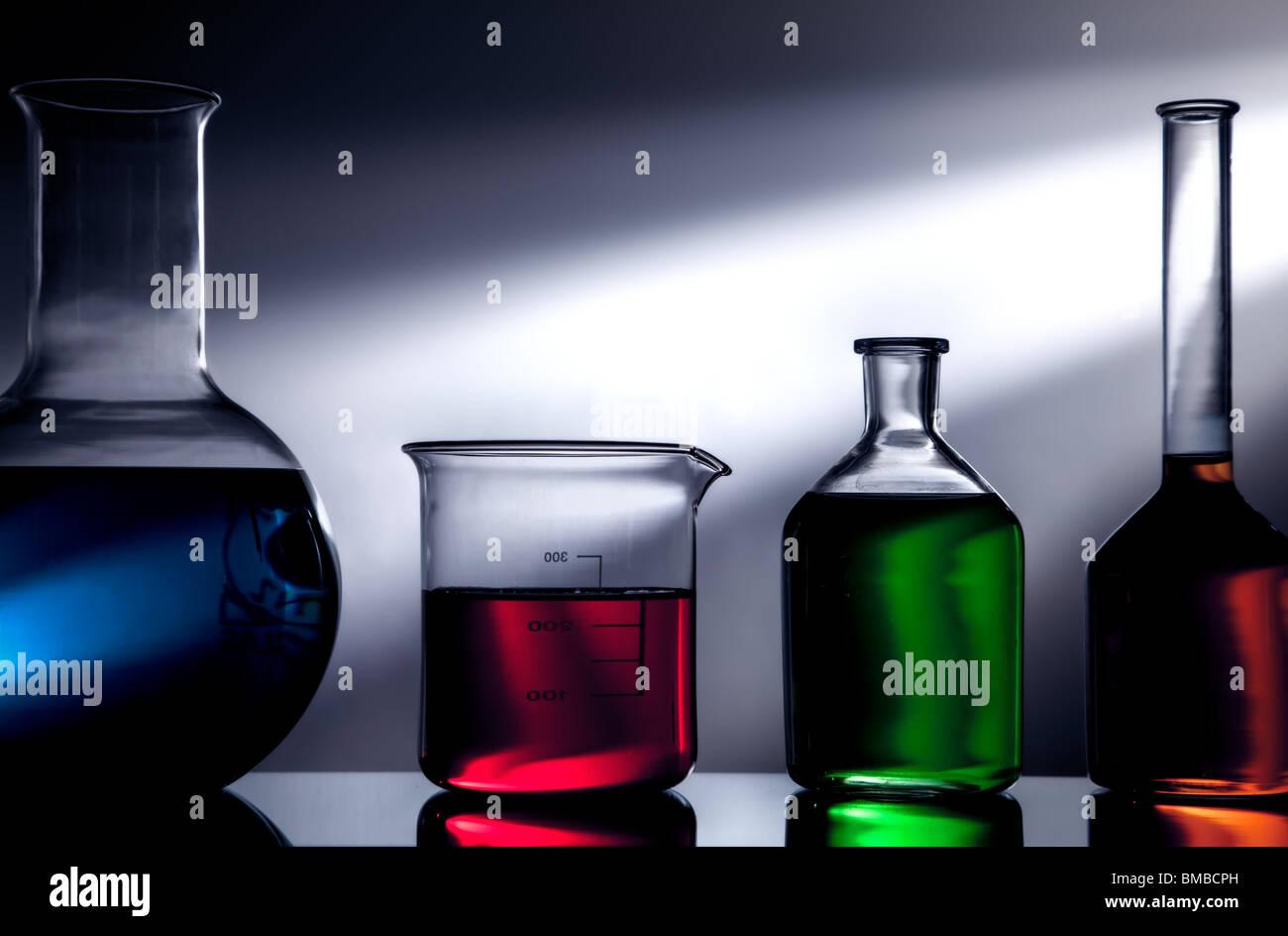 Labor-Glaswaren Stockbild