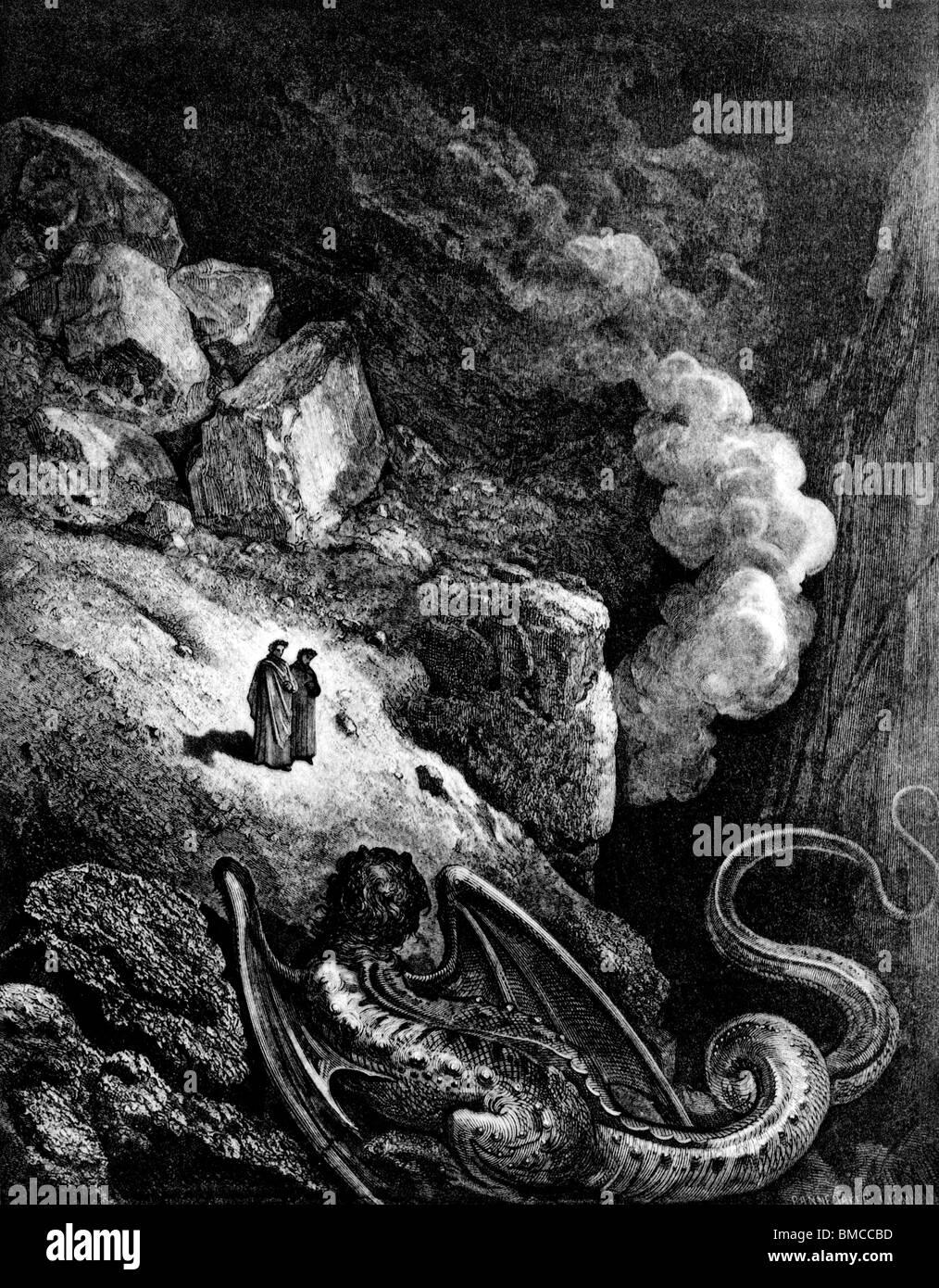 Geryon, den Dämon der Lüge Stockbild