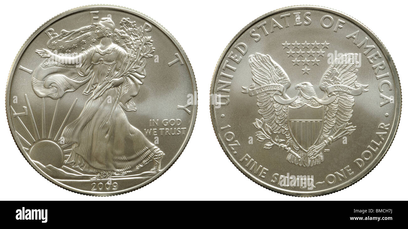 Us Silver Eagle 1 Us Dollar Münze Reine Silberbarren Reinheit 999