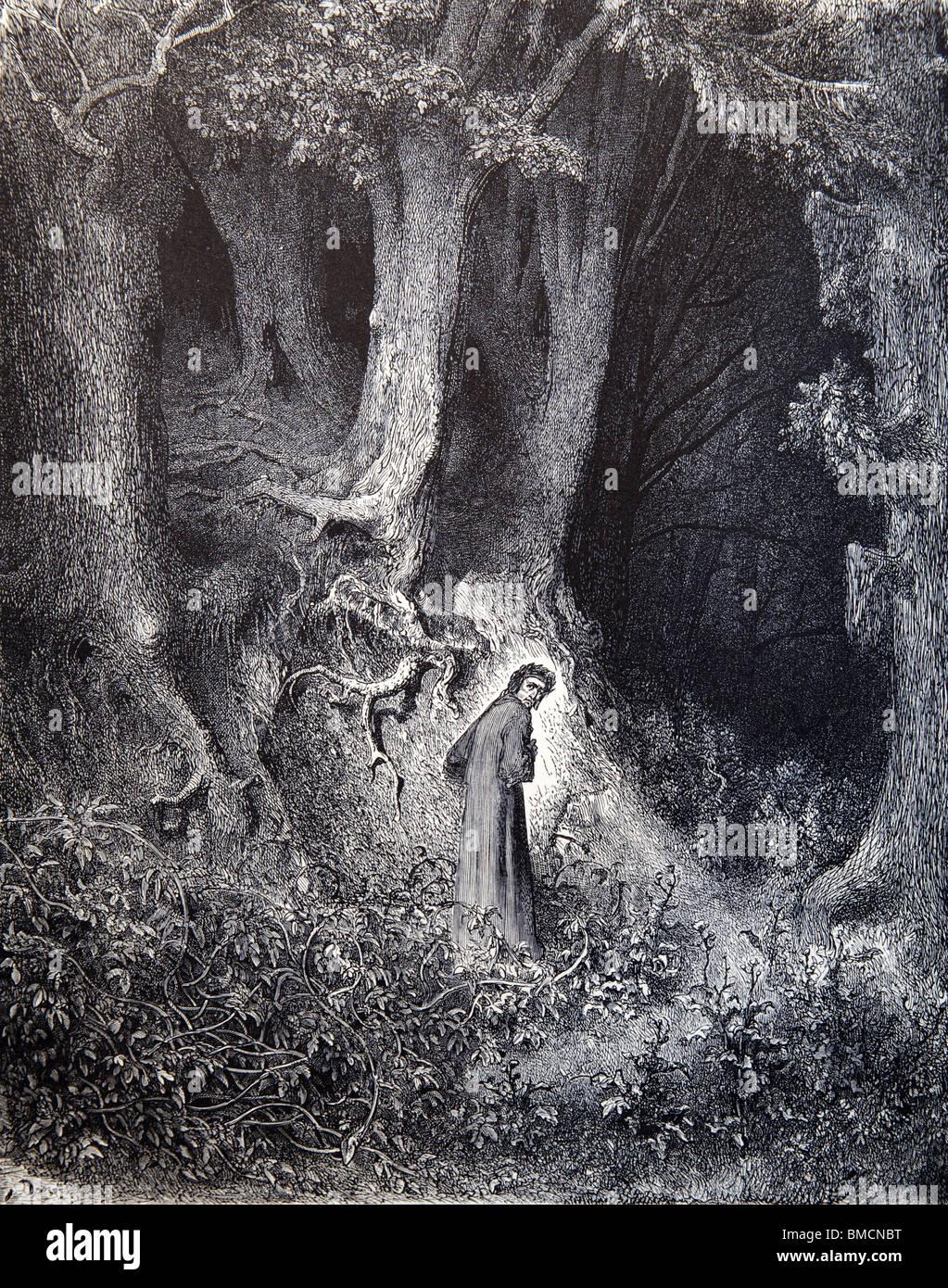 """Stich von Gustave Doré aus Alighieris göttliche Komödie """"Inferno"""" oder 'Visionen der Stockbild"""