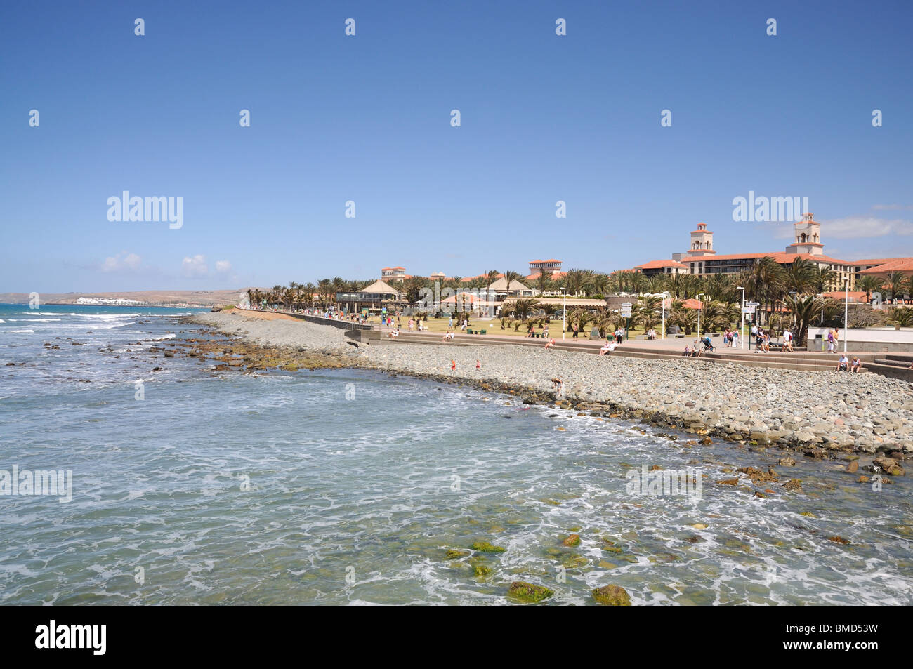 Maspalomas Küste, Grand Kanarische Inseln, Spanien Stockbild
