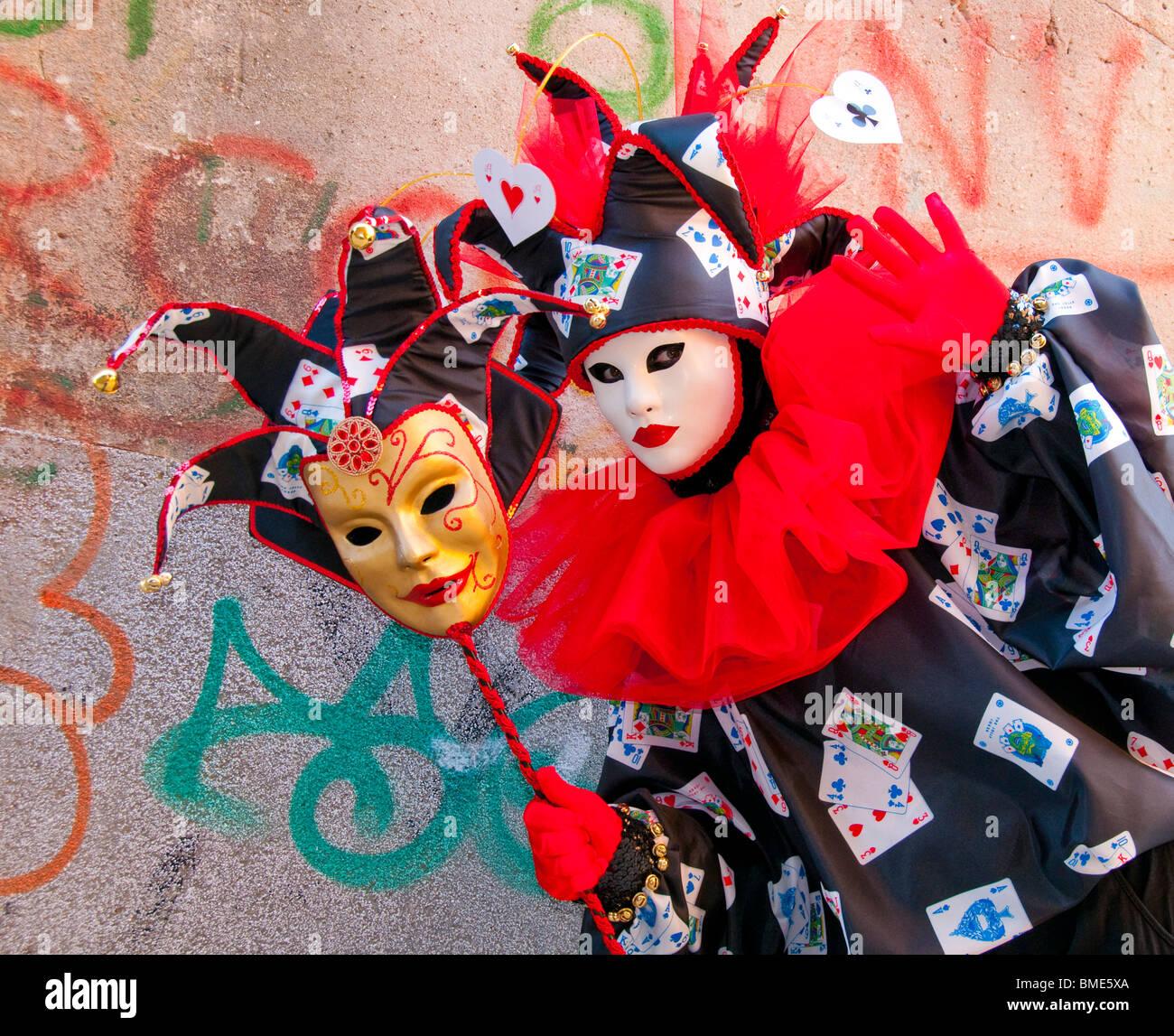 karneval in venedig italien kost mierten narren teilnehmer stockfoto bild 29815474 alamy. Black Bedroom Furniture Sets. Home Design Ideas