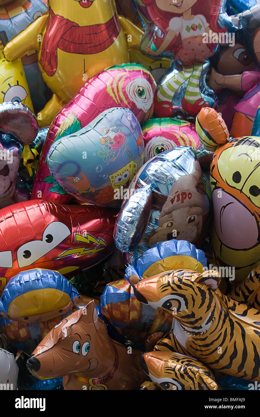 Luftballons in Manchester UK Stockbild